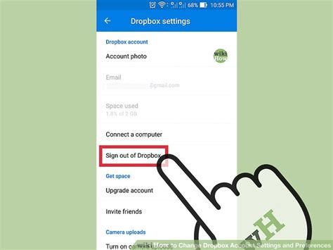 dropbox logout 3 ways to change dropbox account settings and preferences