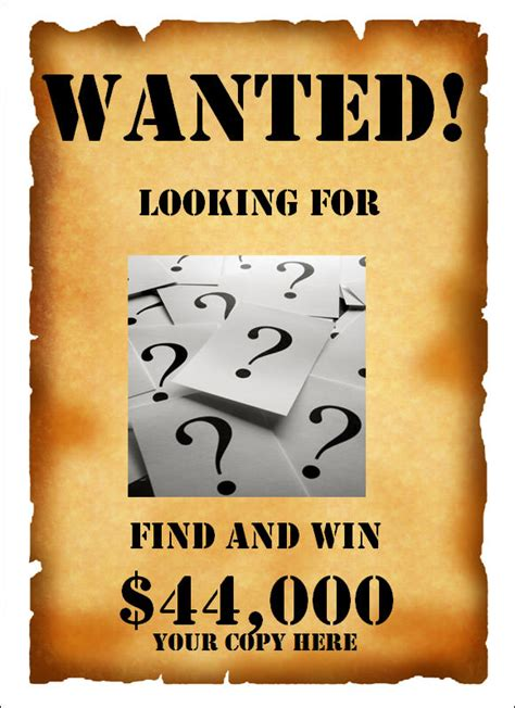 wanted poster template 20 download documents in psd