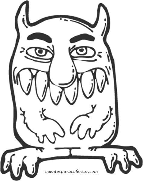 imagenes infantiles monstruos dibujos para colorear monstruos de miedo