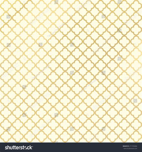 gold quatrefoil pattern cream and gold quatrefoil pattern or background stock