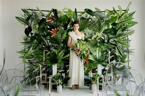 Artificial Pine Trees Home Decor lush tropical wedding inspiration green wedding shoes