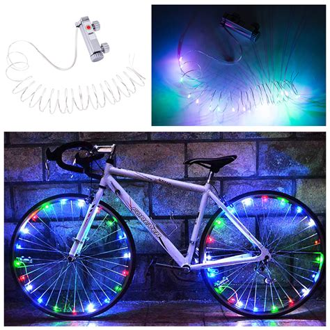 Bicycle Wheel Led Light Yellow colorful bike bicycle wheel tire spoke wire 20 led