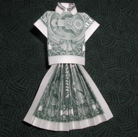 Origami Dollar Dress - bill origami images