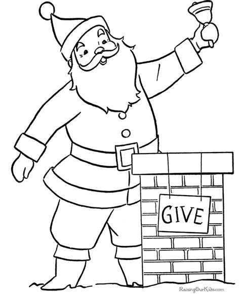 santa claus coloring pages games free printable santa pages