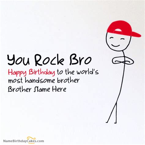 happy birthday brother cards printable funny birthday card for brother with name