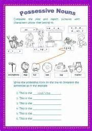 possessive nouns worksheet by lorena trujillo