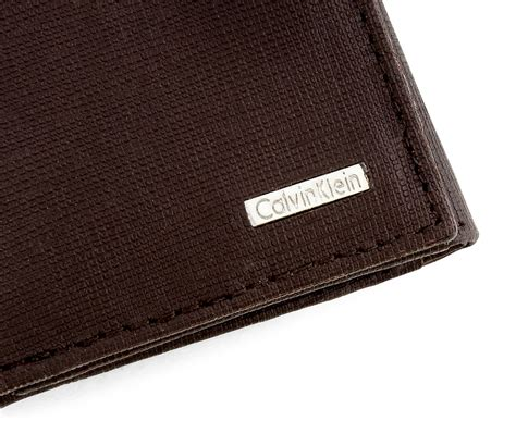 Branded Calvin Klein Embossed Leather Wallet Gck09 Original Usa calvin klein leather trifold wallet brown grain ebay