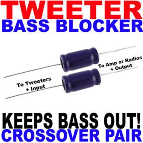 bass blocker capacitor bass blockers tweeters consumer electronics ebay