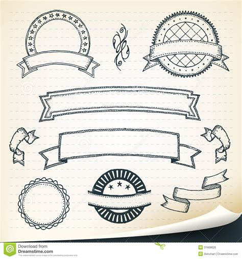 free doodle banner vector doodle banners and design elements royalty free stock
