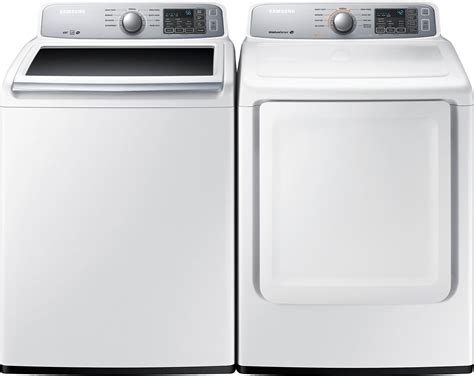 Home Decor Flash Sale by Samsung 5 2 Cu Ft Top Load Washer And 7 4 Cu Ft
