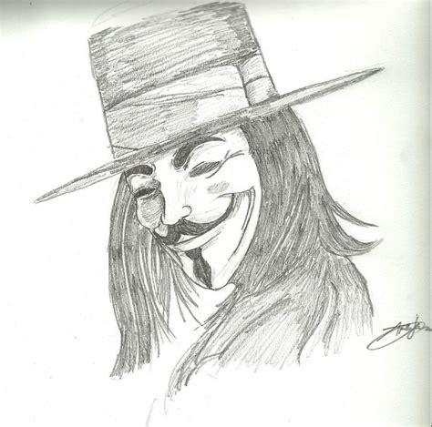 Drawing V For Vendetta by V For Vendetta By Andiemuss On Deviantart