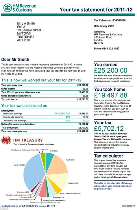 National Insurance Contribution Letter X budget 2012 tax payers to get statement revealing how