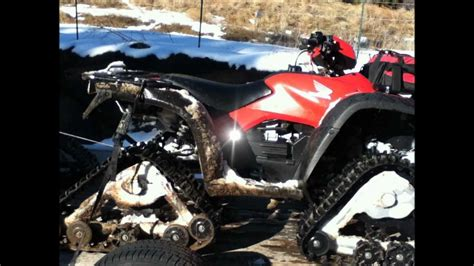 awesome atv awesome atv tracks snow ride youtube