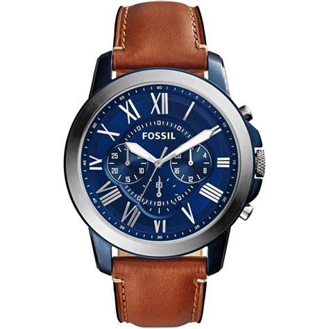 montre fossil grant fs5151 montre cadran bleu homme sur bijourama montre homme pas cher en ligne