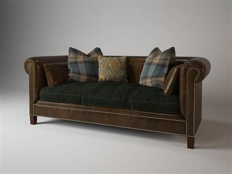 ralph lauren leather sofa brompton sofa 911 01 ralph 3d max