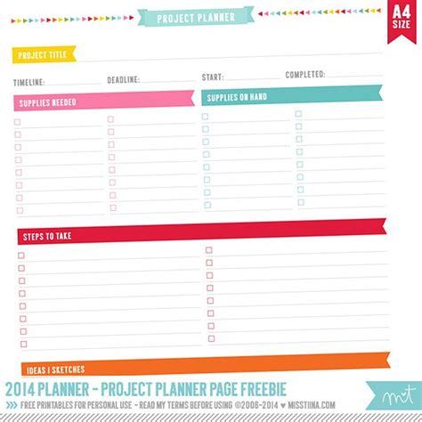printable project planner free printable project planner pages calendar template 2016