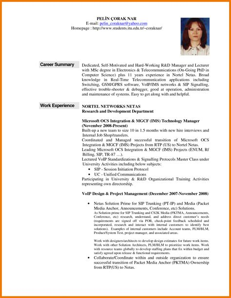 summary on a resume exle 4 summary exles assistant cover letter