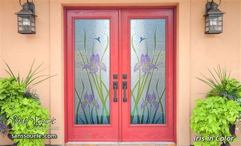 Paint Glass Door Glass Front Doors With Beautiful Painted Colors
