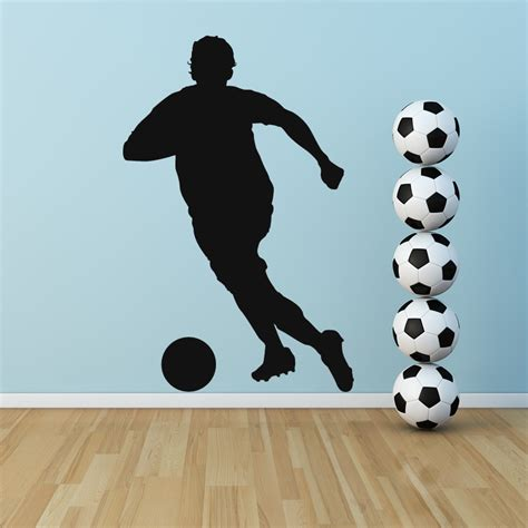sports wall stickers footballer running sports wall stickers wall decals