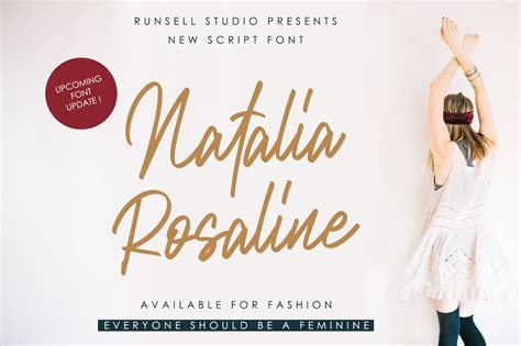 The Ghost Of Natalias Presentom by Rosaline Update Script Fonts Creative Market