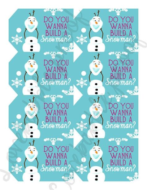 frozen printable etsy frozen favor tag printable digital file sheet of 8 by