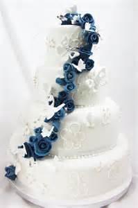 blue butterfly cascade wedding cake 183 jill the cakemaker