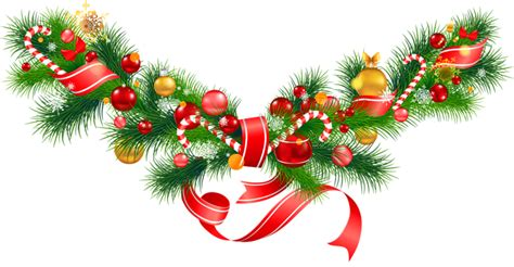 xmas swag png transparent pine garland with ornaments clipart gallery yopriceville high quality