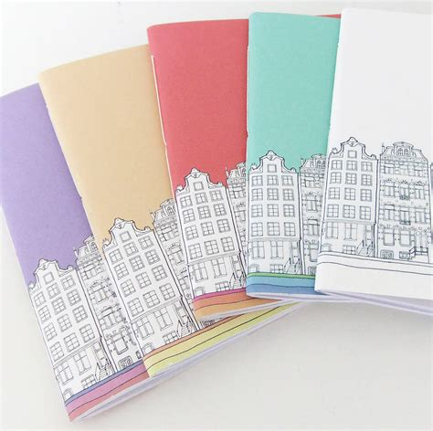 Handmade Notebooks Uk - handmade amsterdam notebook by peony and thistle