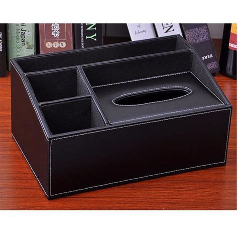 Faux Leather Organizer faux leather tissue box cover paper holder storage