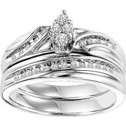 wedding ring sets walmart forever 1 4 carat t w bridal set in