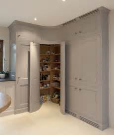 Corner kitchen pantry cabinet for spacious kitchen with white ceiling