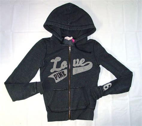 Lettering Zip Up Jacket womens pink s secret hoodie gray zip jacket