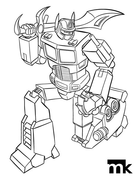 Optimus Prime Coloring Page by Optimus Prime Free Coloring Pages