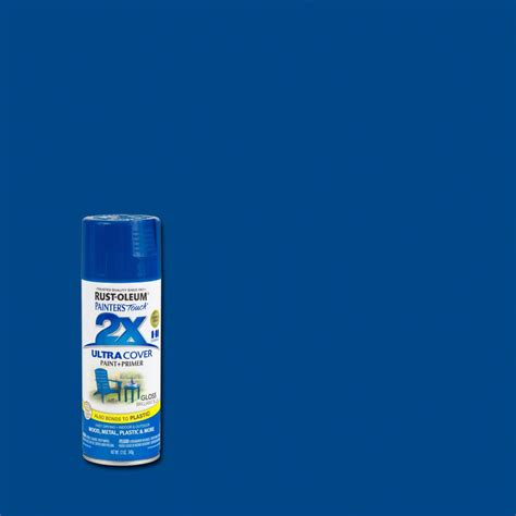 rust oleum painter s touch 2x 12 oz brilliant blue gloss general purpose spray paint 6 pack