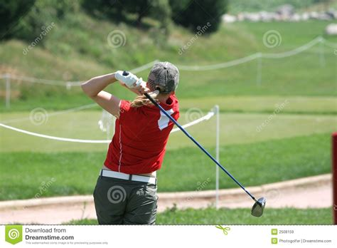 lady golf swing lady golf swing royalty free stock images image 2508159