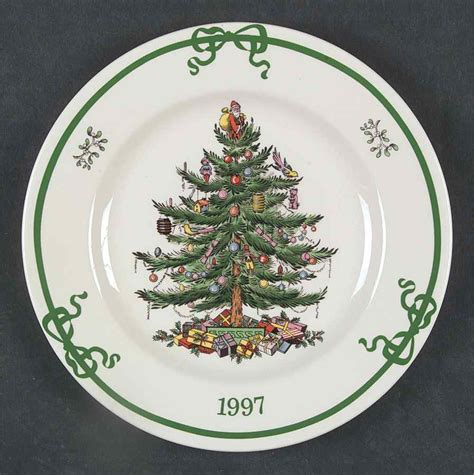 spode christmas tree green trim pattern spode christmas tree green trim 1997 collector plate