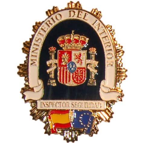 telefono ministerio de interior placa metalica ministerio interior inspector de seguridad