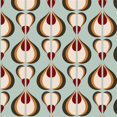 60s design retro mod 60s opart fabric chickoteria spoonflower