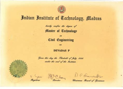 masters degree in engineering 1 devadas pranassery masters degree mtech in civil