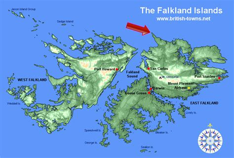 map of the falkland islands cape dolphin