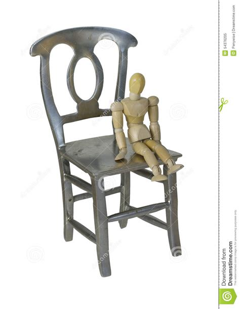 Small Sitting Chairs Small Person Sitting On Large Chair Stock Photo Image
