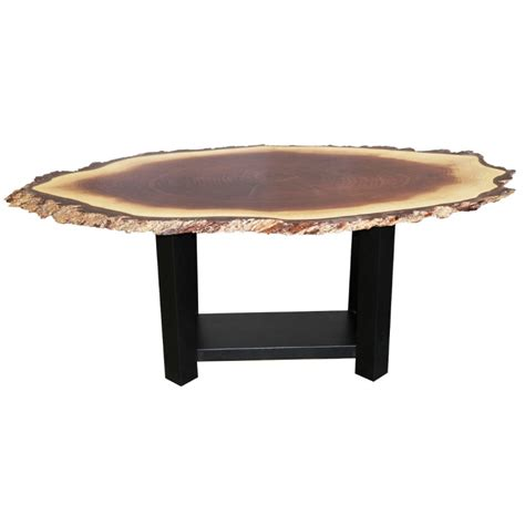 Live Edge Walnut Table by Walnut Live Edge Oval Coffee Table Amish Live Edge