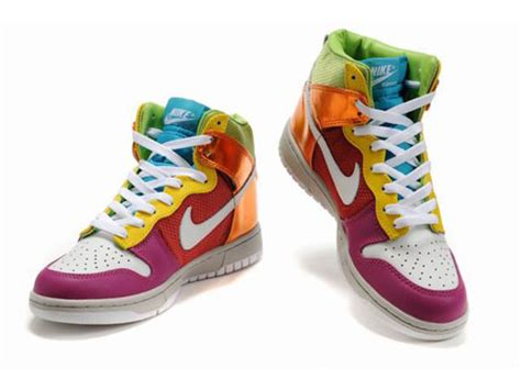 colorful nikes nike sb dunk shoes high top colorful nike shoes