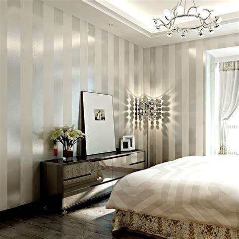 Fancy Bedroom Background Glitter Striped Wallpaper Luxury Wall Papers Modern For