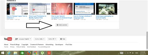 youtube add section get back quot tag quot option in the quot add a section quot of youtube