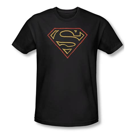 Colored Fit T Shirt superman shirt slim fit colored shield black t shirt