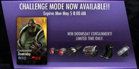 injustice gods among us new challenge injustice mobile containment doomsday challenge