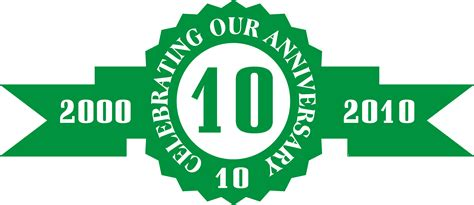 10 Year Anniversary Color by Anniversary Seals Printing Invitations Cards