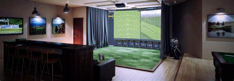 indoor golf simulator hd and full swing trackman custom build simulator
