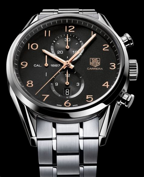 Tag Heuer 1887 2014 Steel Black Ultimate Swiss Eta 11 tag heuer 1887 43mm watches perp 233 tuelle